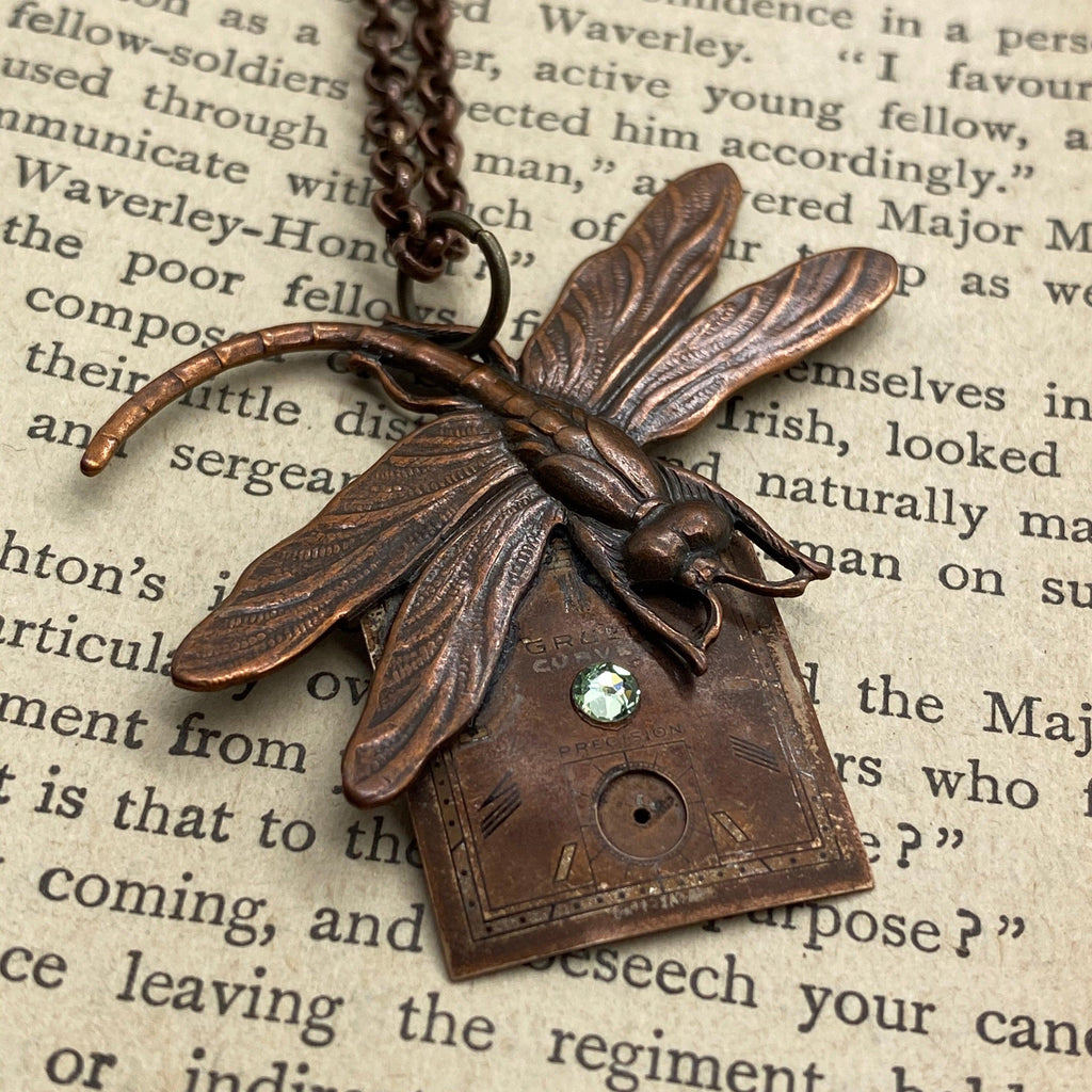 Damsel Fly Necklace - The Victorian Magpie