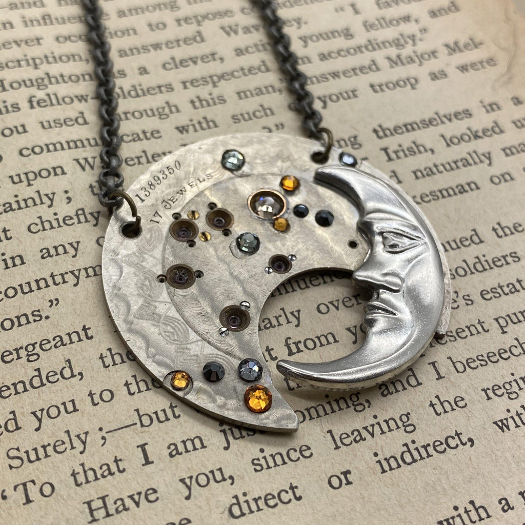 Jasper, Moon Necklace - The Victorian Magpie