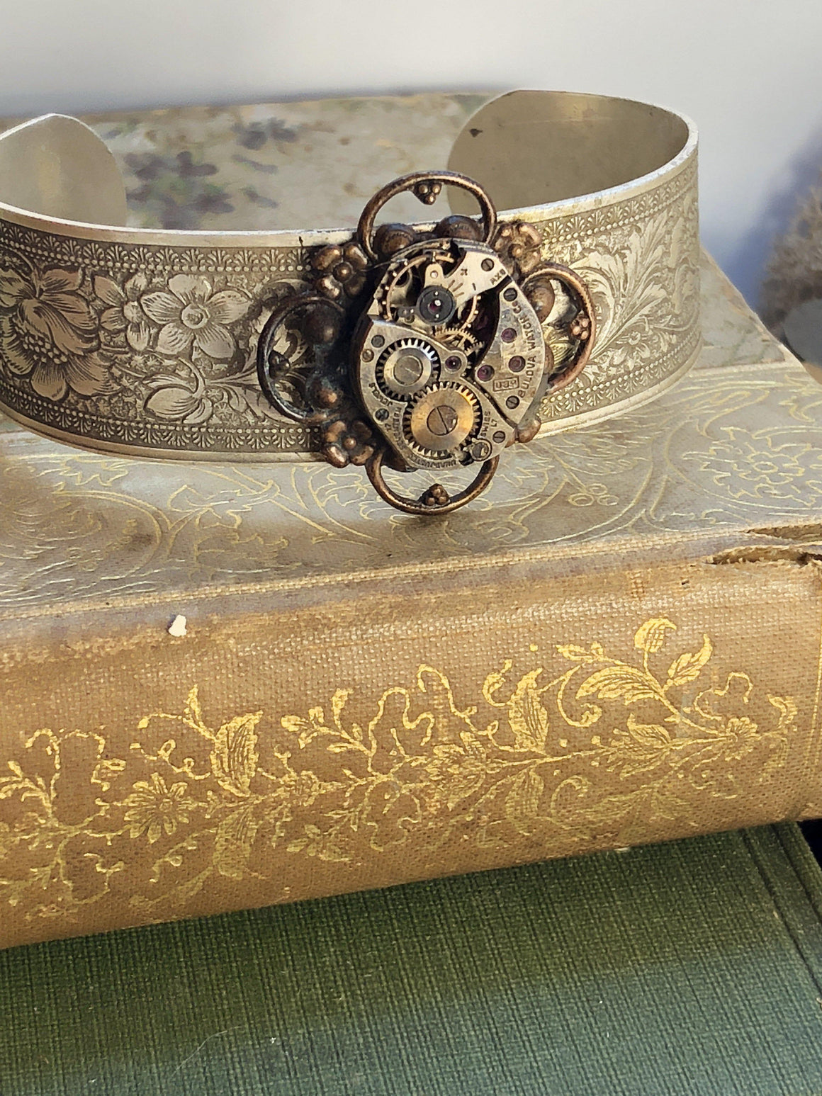 Steampunk Filigree Bangle - The Victorian Magpie
