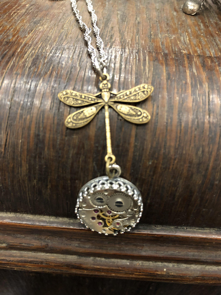 Nadine, Dragonfly Drop  Pendant - The Victorian Magpie