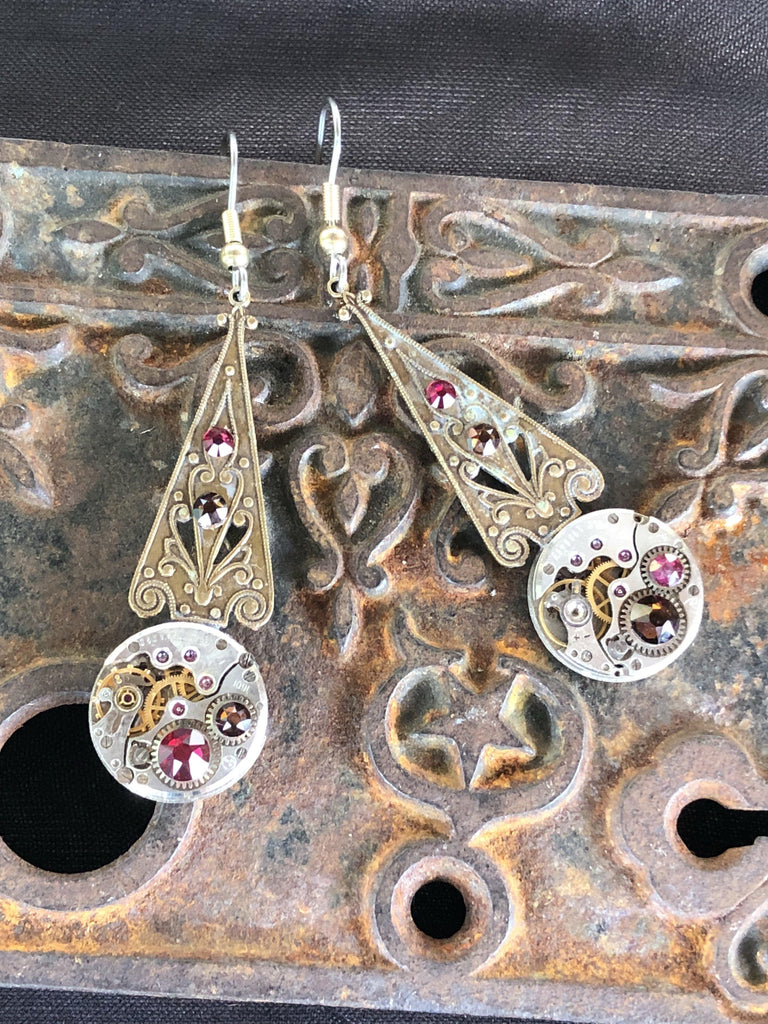 Melian, Elvish Art Nouveau Earrings - The Victorian Magpie