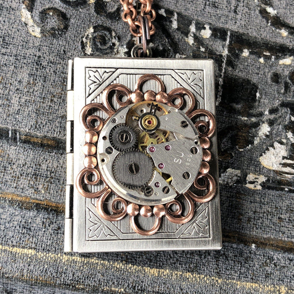 Alicia- book locket - The Victorian Magpie