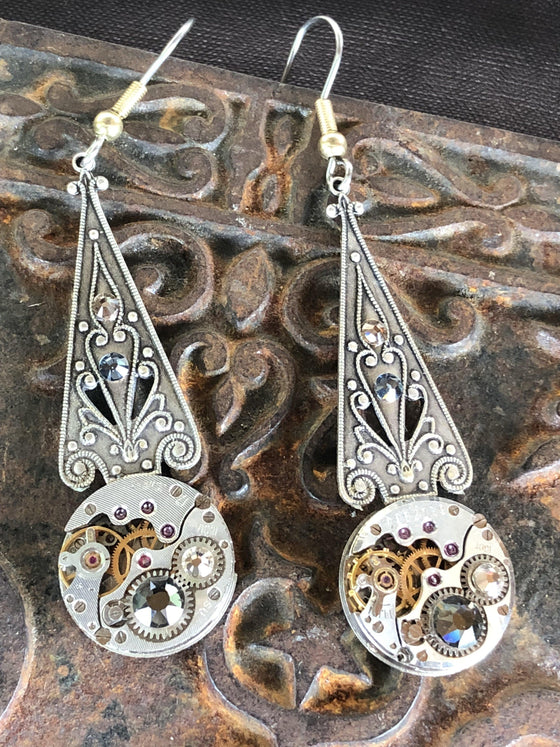 Melian, Elvish Art Nouveau Earrings