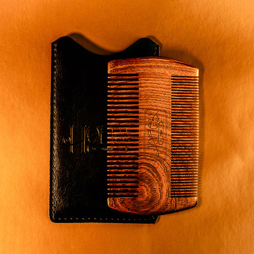 Sandalwood Beard Comb + Sheath