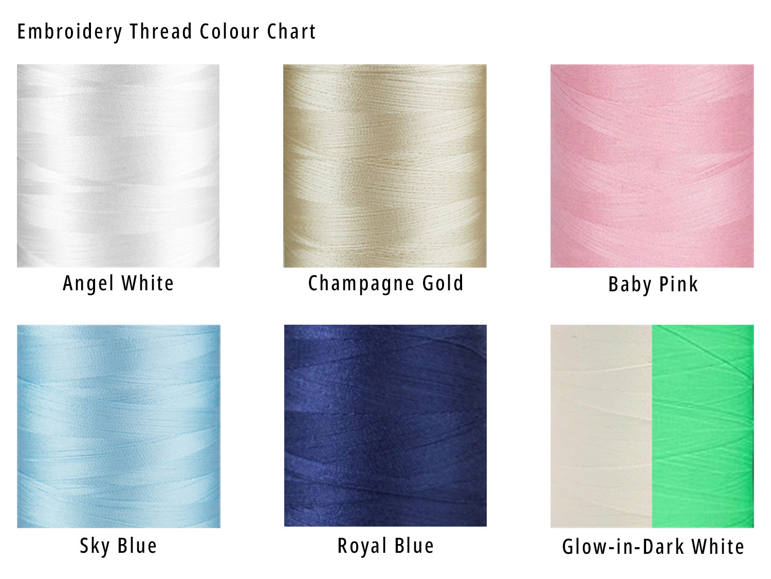 puttot embroidery thread colour chart