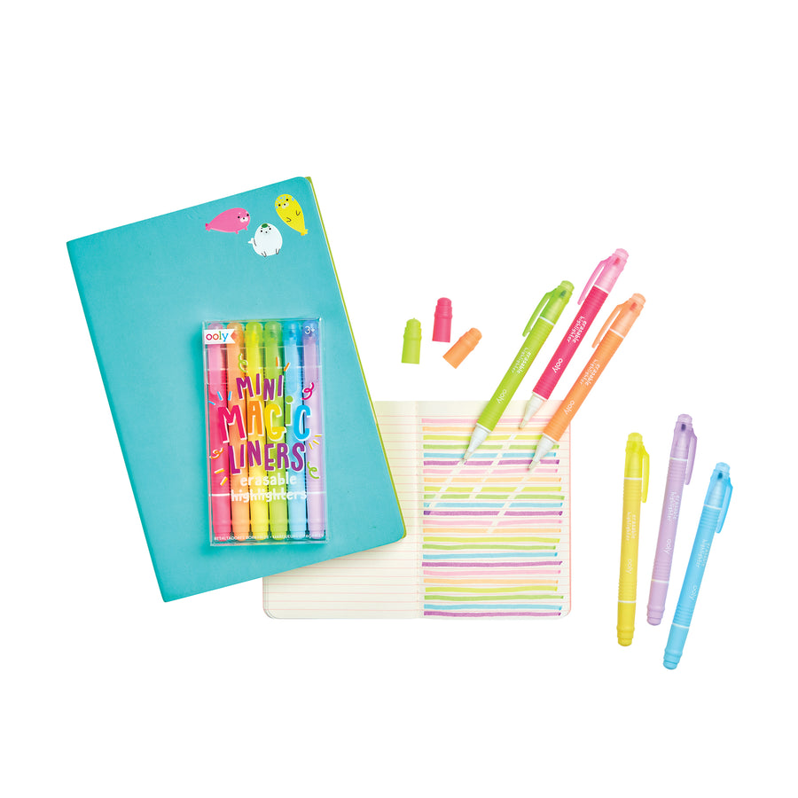 Mini Magic Liners Erasable Highlighters (Set of 6)