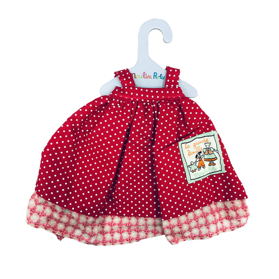 La Grande Famille Nini Polka Dot Red Dress by Moulin Roty
