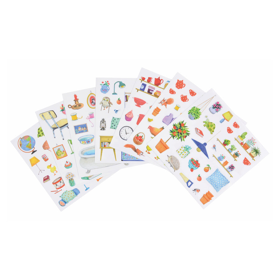 La Grande Famille Coloring Book with 160 Stickers 20 Pages