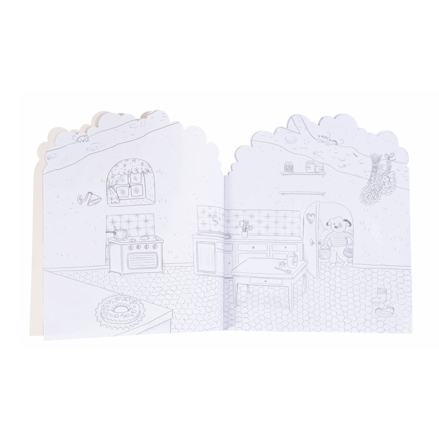 La Grande Famille Colouring Book with 160 Stickers 20 Pages by Moulin Roty