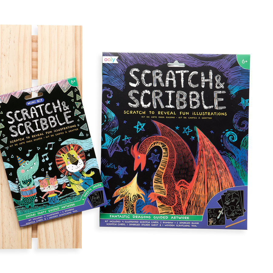 Mini Scratch & Scribble Art Kit (Safari Party)