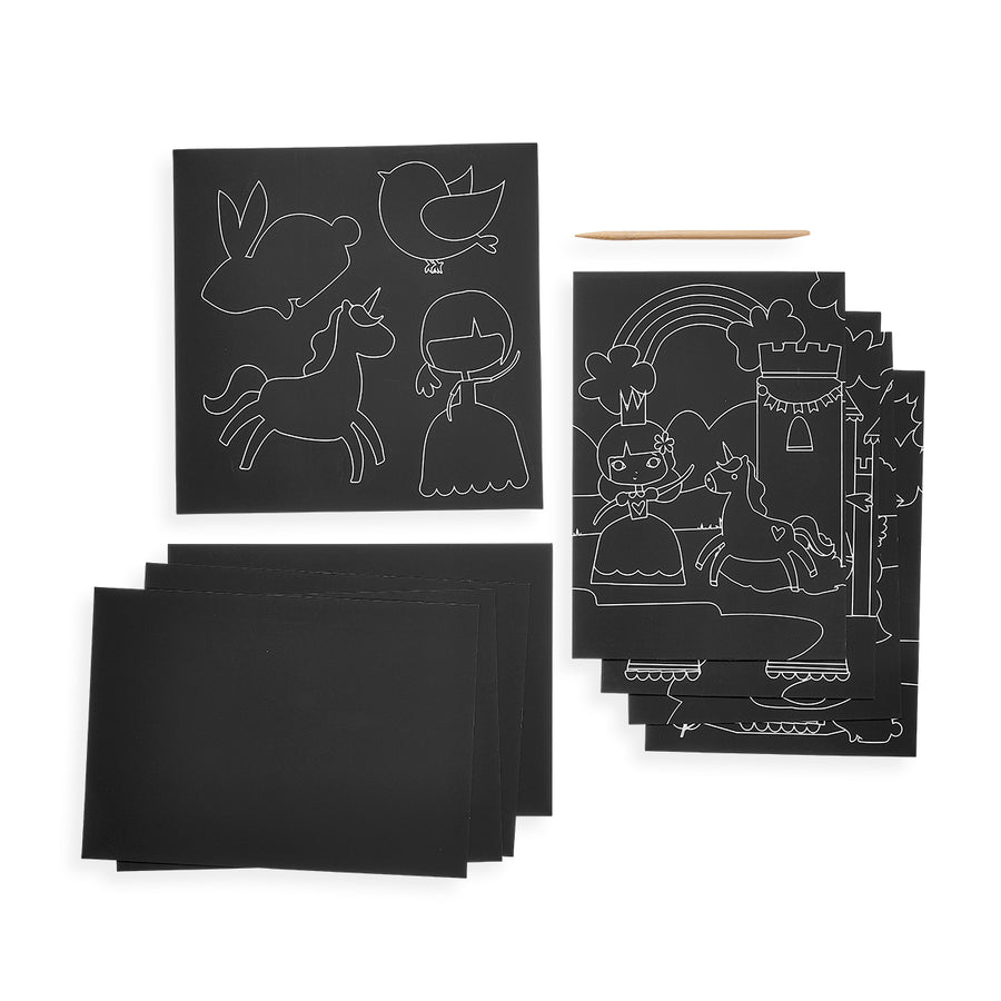 Scratch & Scribble Art Kit (Princess Garden)
