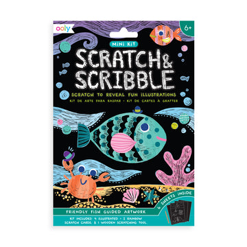 Mini Scratch & Scribble Art Kit (Friendly Fish)
