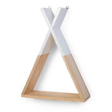 Wall Shelf Tipi (Natural White)