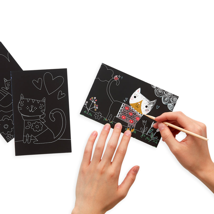Mini Scratch & Scribble Art Kit (Cutie Cats)