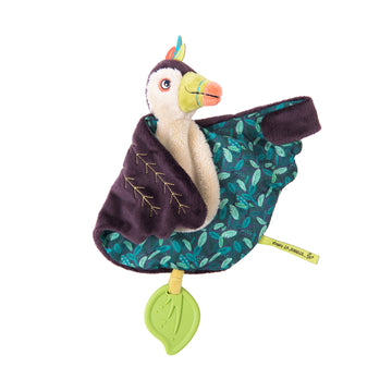 Dans La Jungle Pakou the Toucan Comforter with Teether and Pacifier-holder