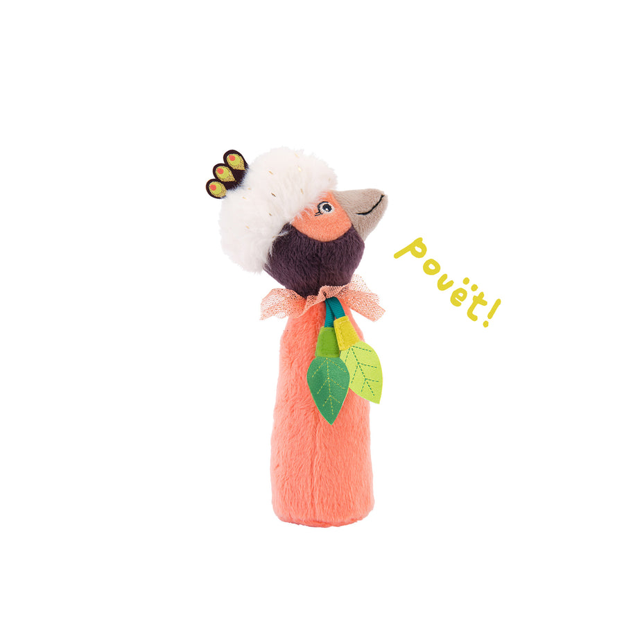 Dans La Jungle Baby Squeaker Rattle (Paloma the Bird of Paradise)
