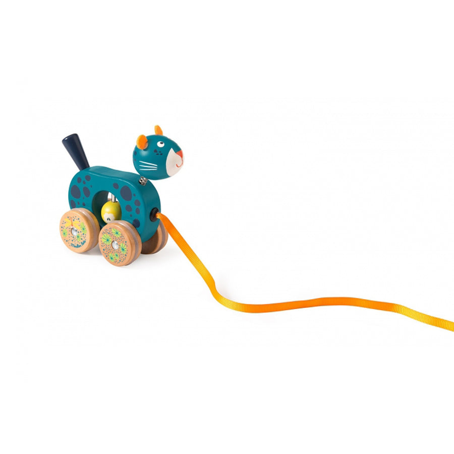 Dans La Jungle Wooden Pull-along (Blue Zimba)
