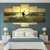Sunset Surf 5 Piece Canvas Print Set