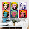 Andy Warhols Marilyn Monroe Pop Art Canvas Wall Art