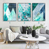 Nordic Turquoise Geometric Abstract Art