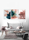 Floral Blush Abstract Nordic Art