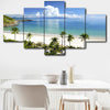 5 Panel Beach Coconut Tree Paradise Wall Art Set