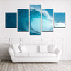 Deep Blue 5 Panel Surf Wall Art Set