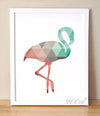 Geometric Flamingo Canvas Art Print