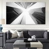 Toronto Skyscrapers Black and White Canvas Print