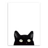 3 Piece Black Cats A4 Print Wall Art