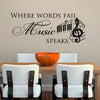 Where Words Fail Music Speaks Stickers