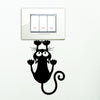 Upside Down Kitten Switch Decal