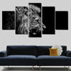 5 Piece Lion Canvas Wall Art