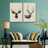 Modern 2 Pcs/Set Deer Painting Prints on Canvas