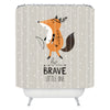 Cartoon Fox Polyester Bath Curtain