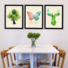 Nordic Stag & Butterfly Abstract Modern Prints