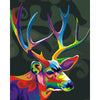Abstract Stag DIY Paint By Numbers Artwork