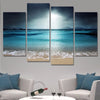 Moody Twilight Shores 4 Piece Beach Canvas Print Set
