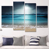 Beach At Twilight Canvas Print Art