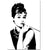 Unframed Black And White Audrey Hepburn Pop Art