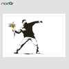 Bansky Rage Flower Thrower Street Art Graffiti Wall Art