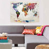 Colouful World Map Tapestry Wall Art