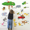 Animal Zoo Nursery Removable Wall Stickers