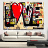 Banksy Street Art Graffiti 3D Red LOVE