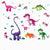 Cartoon Colourful Dinosaurs Wall Stickers