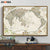 Vintage World Map Wall Art Print