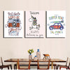 Kids Art Pieces Printed Poster