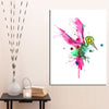 Hummingbird Bird Watercolor Hummingbird Print on Canvas