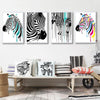 Modern Zebra Canvas Painting Animals Posters Prints