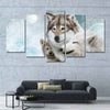 Winter Wolves Animal Canvas Print 5 Pcs/Set